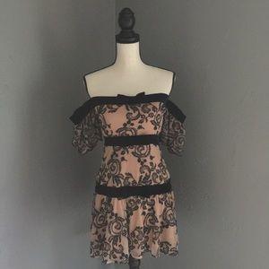 FL&L OFF SHOULDER CLEMENCE DRESS